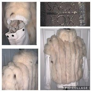 Saga Finland fox fur jacket